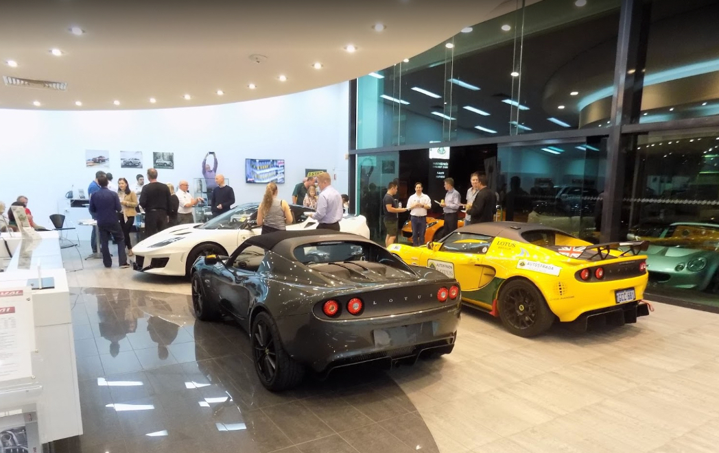 Inside The Autostrada Lotus Sports Car Dealership In Perth Selling New And Used Vehicles Like Elise, Exige And Evora