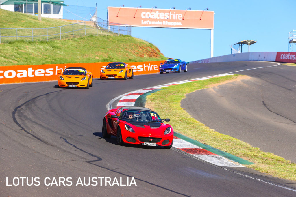 Lotus Cars Australia Mount Panorama Bathurst Track Day Red Elise Sports Car Down The Esses March 2021 (6 Of 45)