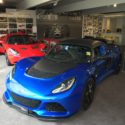 Lotus New And Used Sports Car Dealership Showroom In Queensland For Elise Exige And Evora Cars With Blue Vehicle On Display